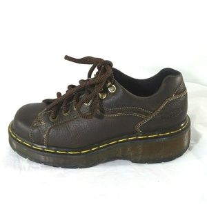 Dr Martens Lace Up Oxford Women Size 5 Brown Vtg